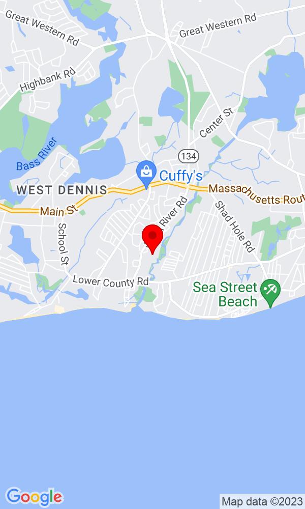 Google Map of20 Uncle Zekes Lane West Dennis MA