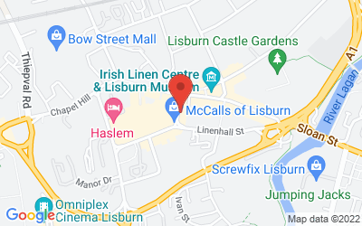 Map of Market Street, Lisburn