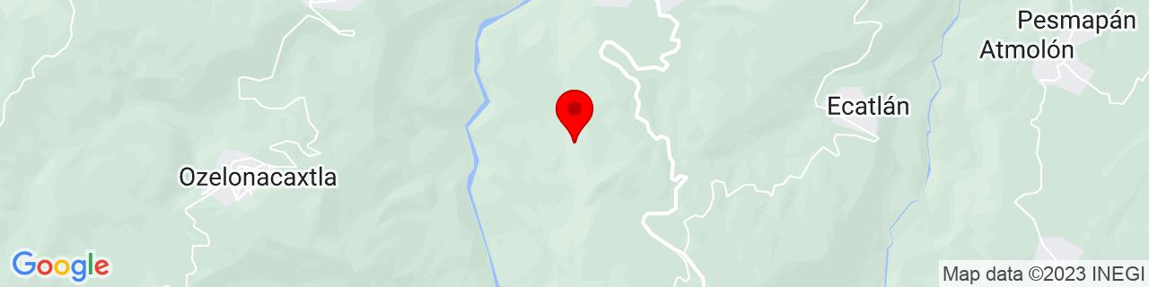 Google Map of 20.05, -97.58333333333333