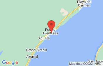 Map of Puerto Aventuras