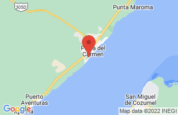 Map of Playa del Carmen