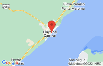 Map of Playa del Carmen