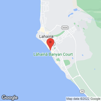 Map of Sunglass Hut at 760 Front St, Lahaina, HI 96761