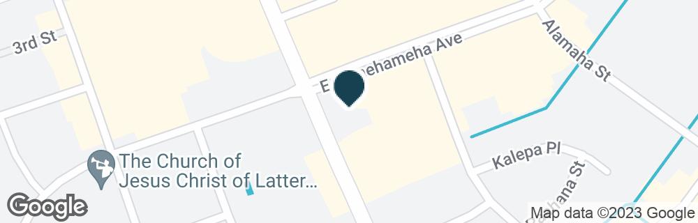 Google Map of10 E KAMEHAMEHA AVE