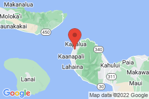 Map of Upcountry and North Shore Maui