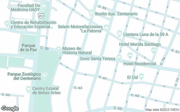 Static Map - Casa De Las Columnas