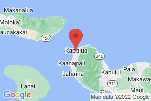 Map of Kapalua Bay Beach