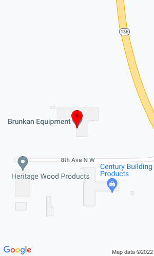 Google Map of Brunkan Equipment 200 8th Avenue NW, Worthington, IA, 52078