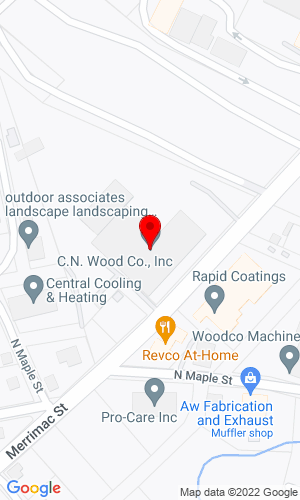 Google Map of C.N. Wood Co., Inc. 200 Merrimac Street, Woburn, MA, 01801
