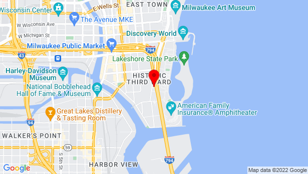 Google Map of 200 N. Harbor Drive, Milwaukee, WI 53202