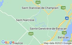 Map of Camping Parc De La Rivière Batiscan