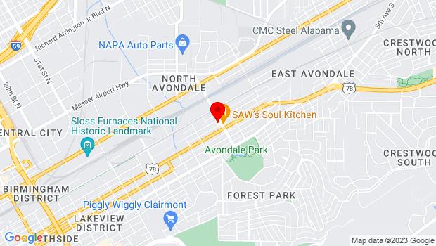 Google Map of 200 41st St S, Birmingham, AL 35222