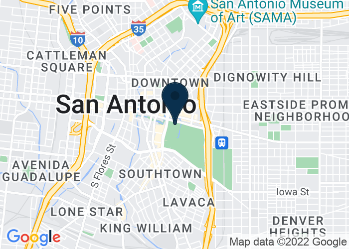 Map of 200 E Market St, San Antonio, TX 78205, United States