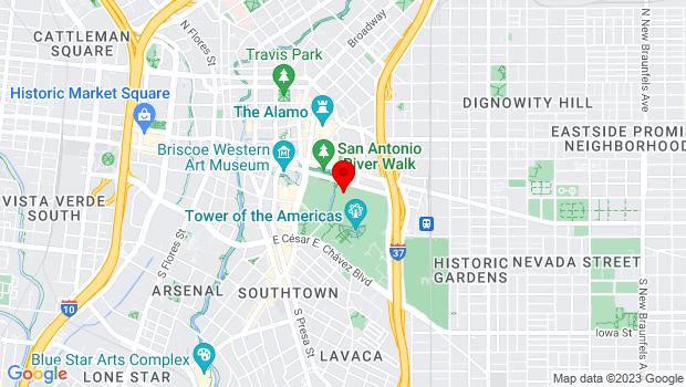 Google Map of 200 E. Market St., San Antonio, TX 78201