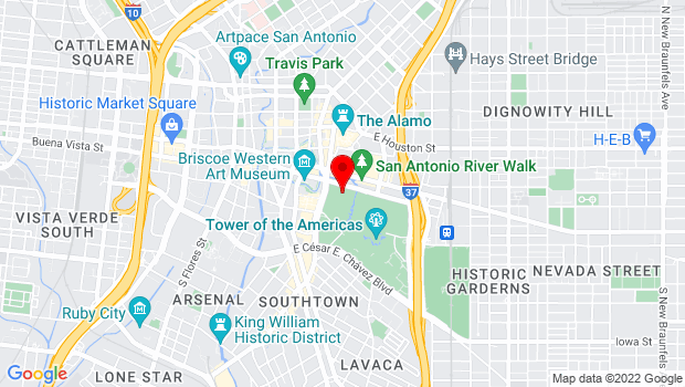 Google Map of 200 E. Market St., San Antonio, TX 78205