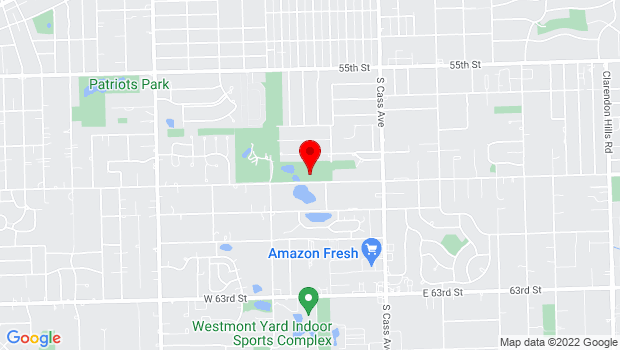 Google Map of 200 W 59th St, Westmont, IL 60559