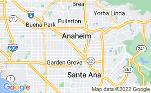 Map of Anaheim RV Park