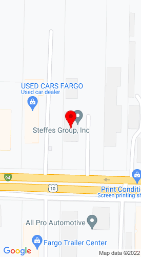 Google Map of Steffes Group Inc. 2000 Main Avenue East, Fargo, ND, 58078