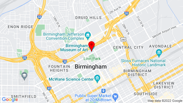 Google Map of 2000 Rev. Abraham Woods, Jr. Blvd, Birmingham, AL 35203
