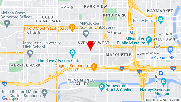 Google Map of 2000 W Wisconsin Ave, Milwaukee, WI 53233