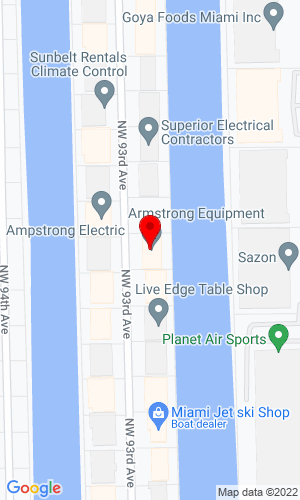 Google Map of Armstrong Equipment Inc. 2001 N.W. 93rd Avenue, Miami, FL, 33172