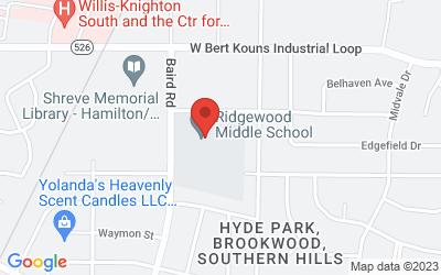 Map of 2001 Ridgewood Drive, Shreveport, LA, USA