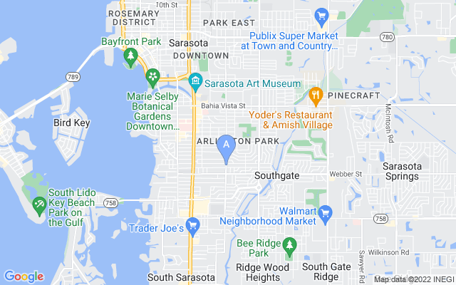 2003 S Shade Ave Sarasota Florida 34239 locatior map