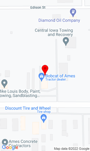 Google Map of Bobcat of Ames 2005 East Lincoln Way, Ames, IA, 50010