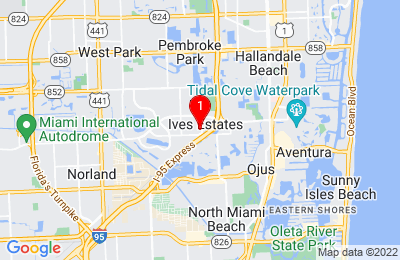 Google Map of 20064 Ne 15th Ct Miami, FL 33179