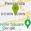 Google Map of 201 N Palafox St+Pensacola+FL+32502