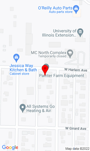 Google Map of Painter Farm Equipment, Inc. 201 W Harlem Ave, Monmouth, IL, 61462