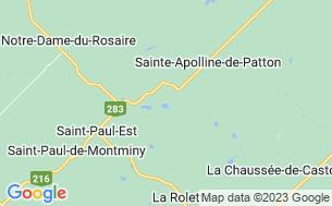 Map of Camping Centre Plein-Air Sainte-Apolline