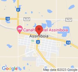 Google Map of 201+1ST+AVENUE+WEST%2CAssiniboia%2CQuebec+S0H+0B0