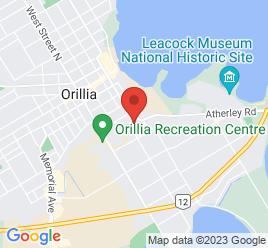 Google Map of 201+Gill+Street%2COrillia%2COntario+L3V+6K7