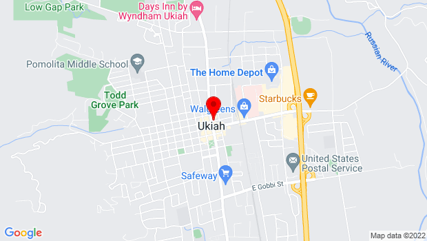 Google Map of 201 S State Street, Ukiah, CA 95482
