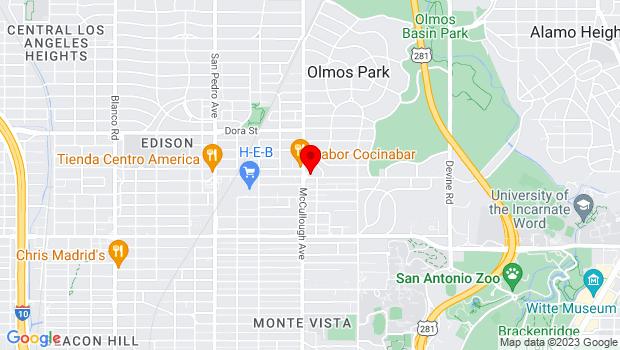 Google Map of 201-A East Olmos Drive, San Antonio, TX 78212