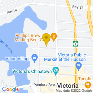 Map to Phillips Brewery provided by Google