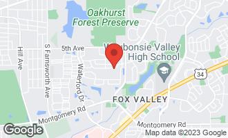 Map of 2011 Westridge Place AURORA, IL 60504