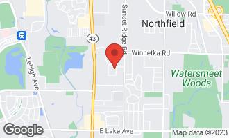 Map of 2012 Burr Oak Drive East Glenview, IL 60025