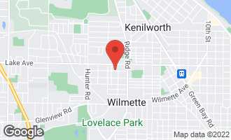 Map of 2012 Schiller Avenue WILMETTE, IL 60091
