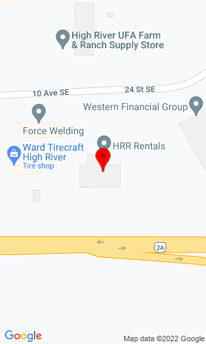 Google Map of High River Rentals Inc 2015 10th Ave , High River, Alberta, Canada, T1V 2A6