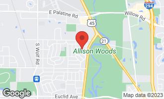 Map of 2015 East Wintergreen Avenue MOUNT PROSPECT, IL 60056