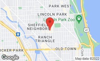 Map of 2018 North Dayton Street CHICAGO, IL 60614