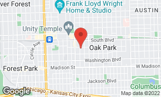 Map of 202 South Euclid Avenue OAK PARK, IL 60302