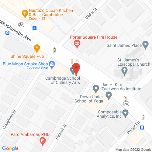 Map of the area around Cambridge School of Culinary Arts, The
