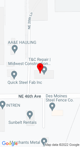 Google Map of Contractor Sales And Service 2020 Ne Broadway, Des Moines, IA, 50313