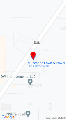 Google Map of Muscatine Lawn & Power 2020 Stewart Road, Muscatine, IA, 52761