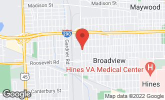 Map of 2021 South 25th Avenue BROADVIEW, IL 60155