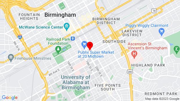 Google Map of 2024 4th Avenue South, Birmingham, AL 35233
