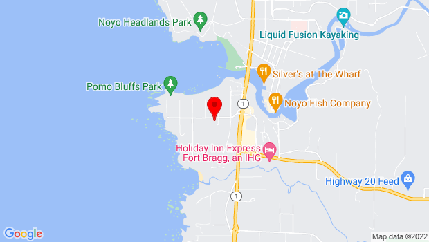 Google Map of 20300 Ocean View Dr, Fort Bragg, CA 95437